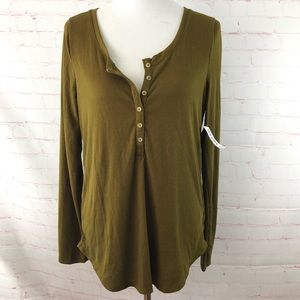 Old Navy Olive Green Long Sleeve Top NWT